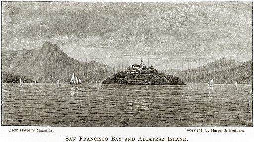San Francisco Bay and Alacatraz Island. Illustration from United States Pictures by Richard Lovett (Religious Tract Society, 1891).