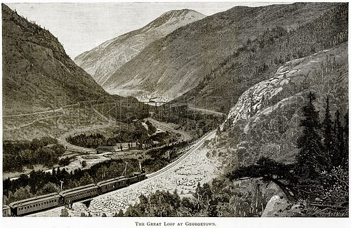 The Great Loop at Georgetown. Illustration from United States Pictures by Richard Lovett (Religious Tract Society, 1891).