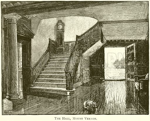 The Hall, Mount Vernon. Illustration from United States Pictures by Richard Lovett (Religious Tract Society, 1891).