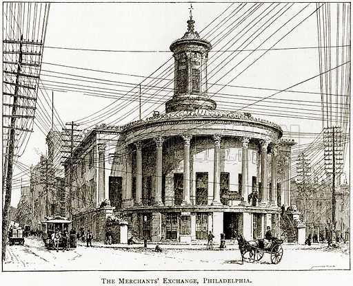 The Merchants' Exchange, Philadelphia. Illustration from United States Pictures by Richard Lovett (Religious Tract Society, 1891).