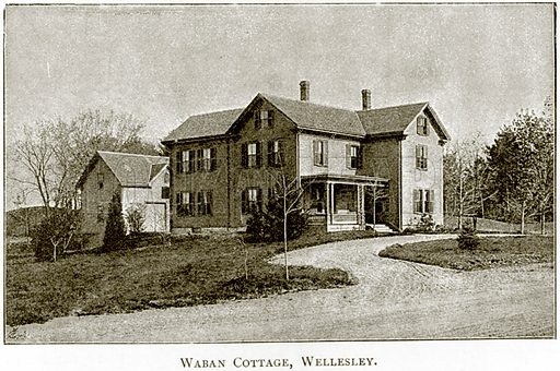 Waban Cottage, Wellesley. Illustration from United States Pictures by Richard Lovett (Religious Tract Society, 1891).