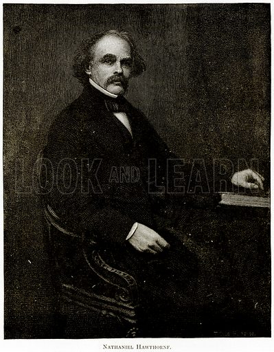Nathaniel Hawthorne. Illustration from United States Pictures by Richard Lovett (Religious Tract Society, 1891).