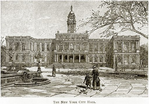 The New York City Hall. Illustration from United States Pictures by Richard Lovett (Religious Tract Society, 1891).
