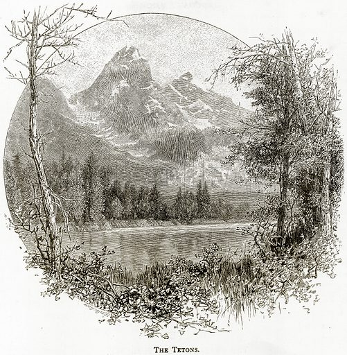 The Tetons. Illustration from United States Pictures by Richard Lovett (Religious Tract Society, 1891).