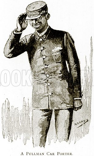 A Pullman Car Porter. Illustration from United States Pictures by Richard Lovett (Religious Tract Society, 1891).