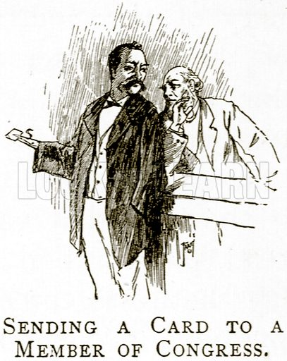 Sending a Card to a Member of Congress. Illustration from United States Pictures by Richard Lovett (Religious Tract Society, 1891).