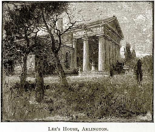 Lee's House, Arlington. Illustration from United States Pictures by Richard Lovett (Religious Tract Society, 1891).