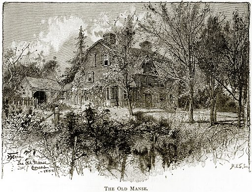 The Old Manse. Illustration from United States Pictures by Richard Lovett (Religious Tract Society, 1891).