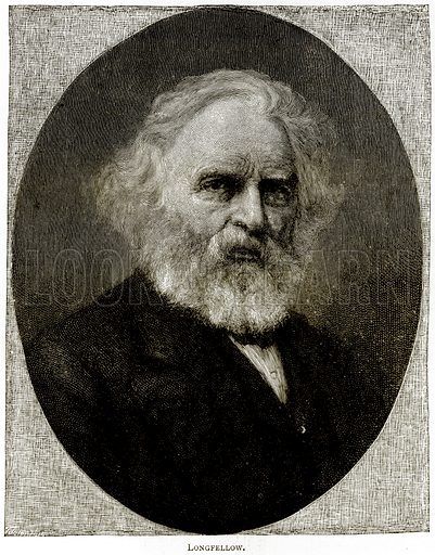 Longfellow. Illustration from United States Pictures by Richard Lovett (Religious Tract Society, 1891).