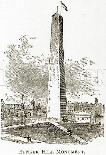 Bunker Hill Monument. Illustration from United States Pictures by Richard Lovett (Religious Tract Society, 1891).