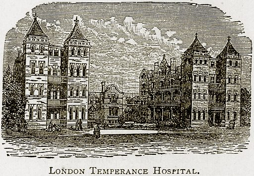 London Temperance Hospital. Illustration from Epochs and Episodes of History (Ward Lock, c 1880).
