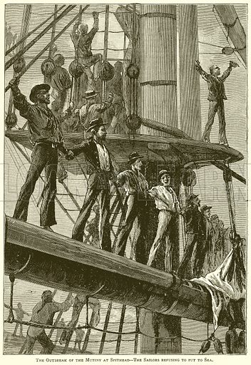Spithead Mutiny, picture, image, illustration