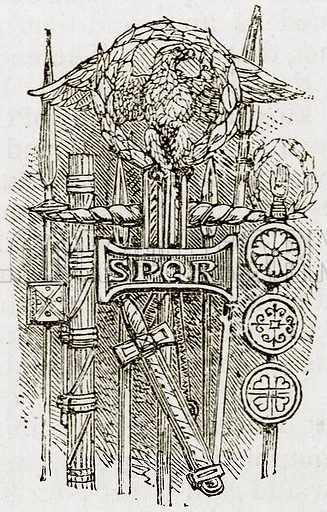 Ancient Rome, SPQR. Illustration from Epochs and Episodes of History (Ward Lock, c 1880).