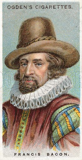 Francis Bacon. Illustration from Ogden's cigarette card series on Leaders of Men issued in 1924.