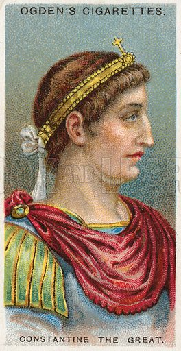 Constantine the Great. Illustration from Ogden's cigarette card series on Leaders of Men issued in 1924.
