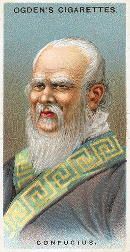 Confucius. Illustration from Ogden's cigarette card series on Leaders of Men issued in 1924.