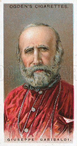 Giuseppe Garibaldi. Illustration from Ogden's cigarette card series on Leaders of Men issued in 1924.