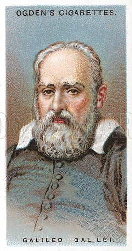 Galileo Galilei. Illustration from Ogden's cigarette card series on Leaders of Men issued in 1924.