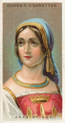 Joan of Arc. Illustration from Ogden's cigarette card series on Leaders of Men issued in 1924.