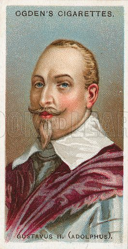 Gustavus II.(Adolphus). Illustration from Ogden's cigarette card series on Leaders of Men issued in 1924.