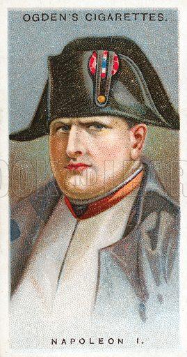 Napoleon I. Illustration from Ogden's cigarette card series on Leaders of Men issued in 1924.