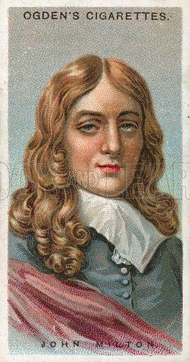 John Milton. Illustration from Ogden's cigarette card series on Leaders of Men issued in 1924.