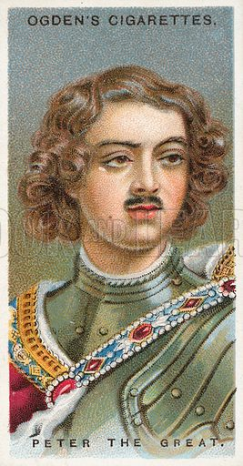 Peter the Great. Illustration from Ogden's cigarette card series on Leaders of Men issued in 1924.