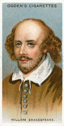 William Shakespeare. Illustration from Ogden's cigarette card series on Leaders of Men issued in 1924.