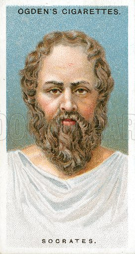 Socrates. Illustration from Ogden's cigarette card series on Leaders of Men issued in 1924.