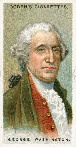 George Washington. Illustration from Ogden's cigarette card series on Leaders of Men issued in 1924.