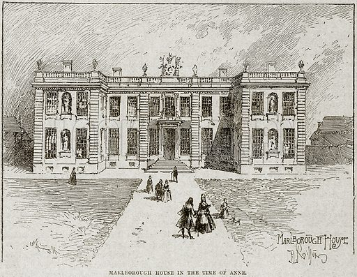 Marlborough House in the Time of Anne. Illustration from Cassell's History of England (special edition, AW Cowan, c 1890).