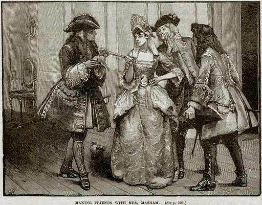 Making Friends with Mrs Masham. Illustration from Cassell's History of England (special edition, AW Cowan, c 1890).