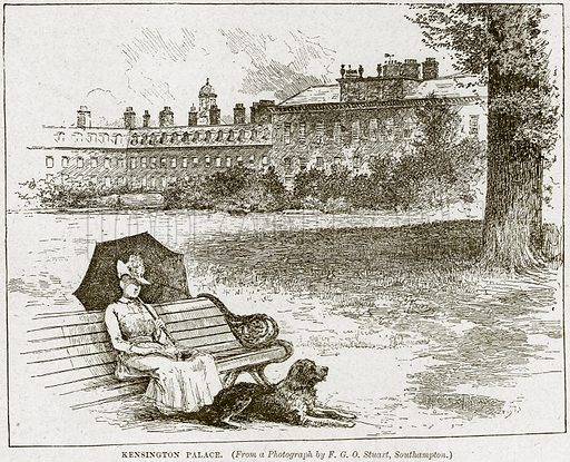 Kensington Palace. Illustration from Cassell's History of England (special edition, AW Cowan, c 1890).