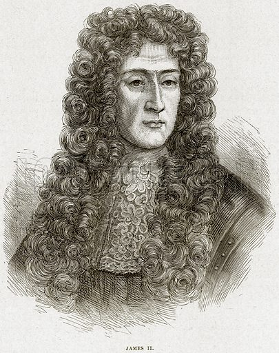 James II. Illustration from Cassell's History of England (special edition, AW Cowan, c 1890).