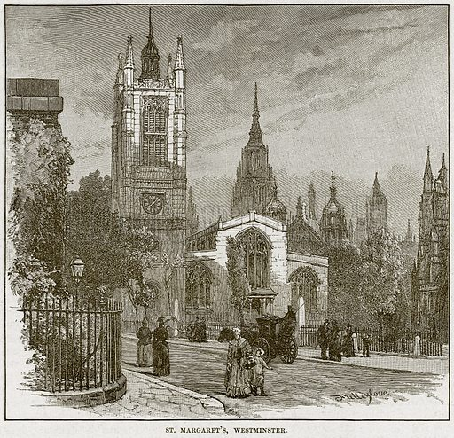 St Margaret's, Westminster. Illustration from Cassell's History of England (special edition, AW Cowan, c 1890).