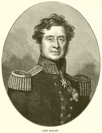 Lord Raglan. Illustration from Cassell's History of England (special edition, A W Cowan, c 1890).