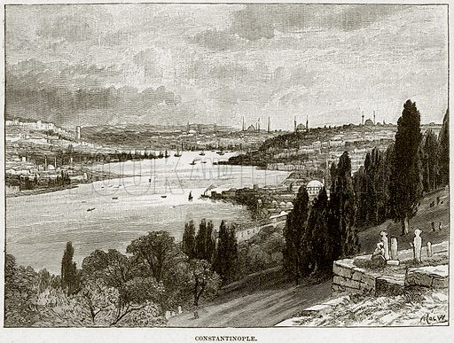 Constantinople. Illustration from Cassell's History of England (special edition, AW Cowan, c 1890).