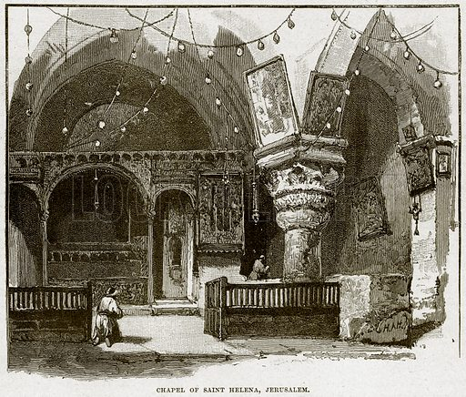 Chapel of Saint Helena, Jerusalem. Illustration from Cassell's History of England (special edition, AW Cowan, c 1890).