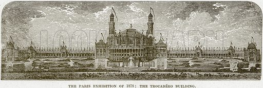 The Paris Exhibition of 1878: The Trocadero Building. Illustration from Cassell's History of England (special edition, AW Cowan, c 1890).