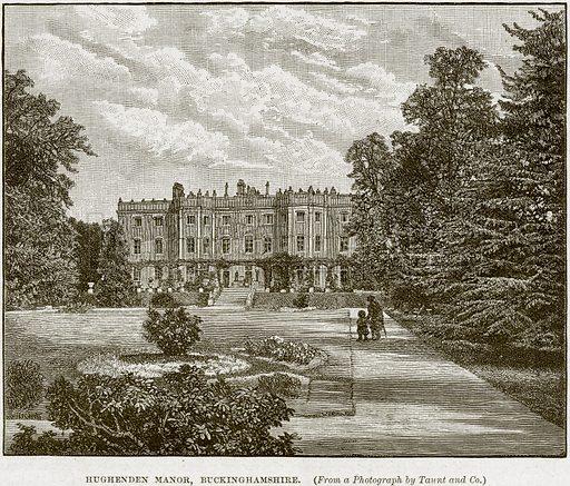 Hughenden Manor, Buckinghamshire. Illustration from Cassell