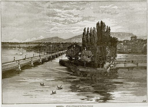 Geneva. Illustration from Cassell's History of England (special edition, A W Cowan, c 1890).
