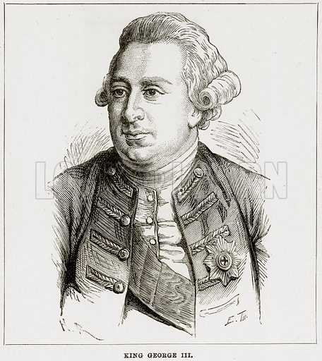 King George III. Illustration from The Imperial History of England (Ward Lock, 1891).
