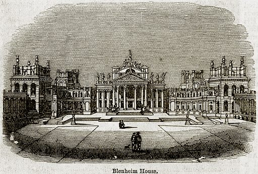 Blenheim House. Illustration from The Imperial History of England (Ward Lock, 1891).
