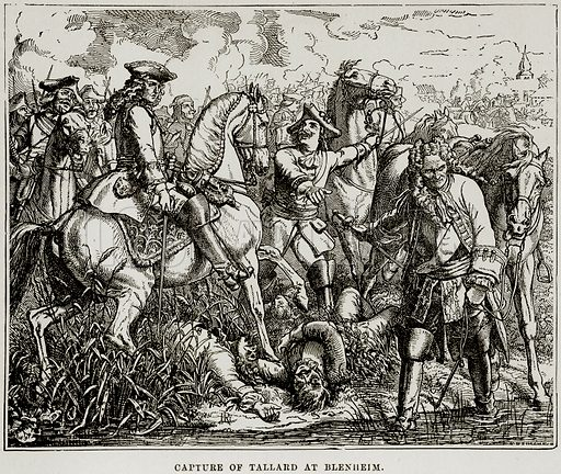 Capture of Tallard at Blenheim. Illustration from The Imperial History of England (Ward Lock, 1891).