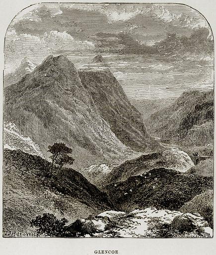 Glencoe. Illustration from The Imperial History of England (Ward Lock, 1891).