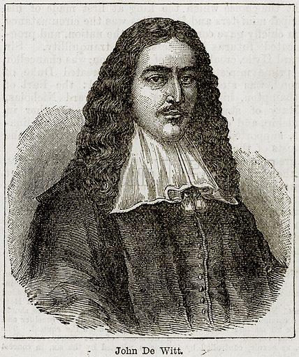 John De Witt. Illustration from The Imperial History of England (Ward Lock, 1891).