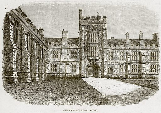 Queen's College, Cork. Illustration from The Life and Times of Queen Victoria by Robert Wilson (Cassell, 1893).
