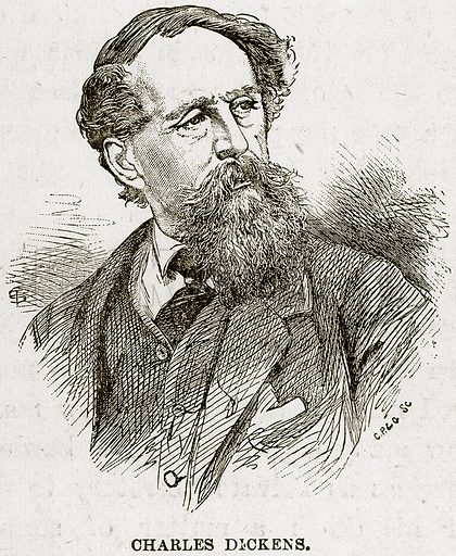 Charles Dickens. Illustration from The Life and Times of Queen Victoria by Robert Wilson (Cassell, 1893).