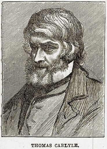 Thomas Carlyle. Illustration from The Life and Times of Queen Victoria by Robert Wilson (Cassell, 1893).