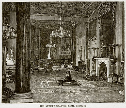 The Queen's Drawing-Room, Osborne. Illustration from The Life and Times of Queen Victoria by Robert Wilson (Cassell, 1893).